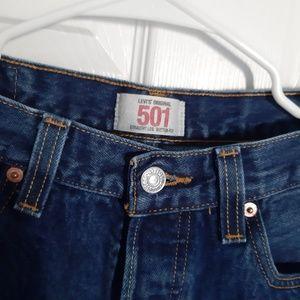 Classic 501 Original Levi's Blue Jean Straight Leg
